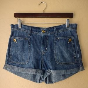 Levi's Rolled Cuff Denim Shorts